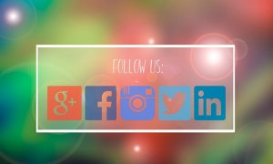 The icons for marketing in Facebook, Instagram, Twitter, Google Plus and LinkedIn.